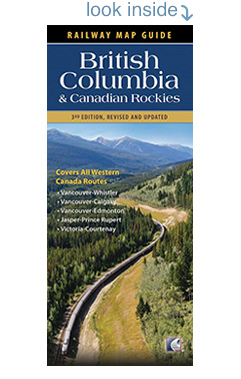 Preview Railway Map Guide: British Columbia and Canadian Rockie